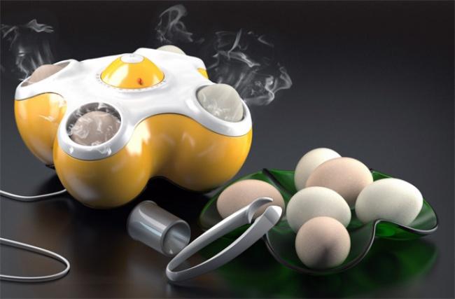 máquina portátil para cocer huevos