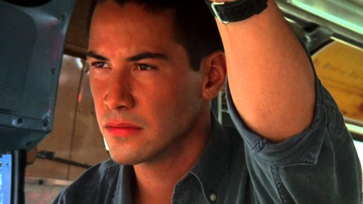 Keanu Reeves joven. Máxima Velocidad