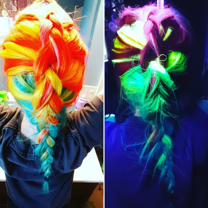 Glow in the hair dark