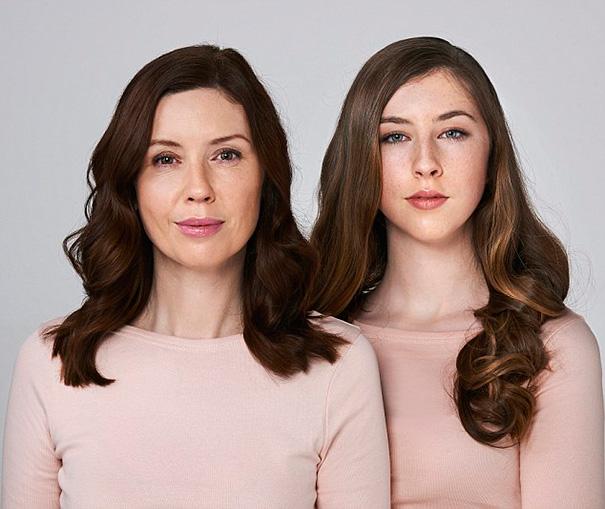 Rhonda y su hija Darcey