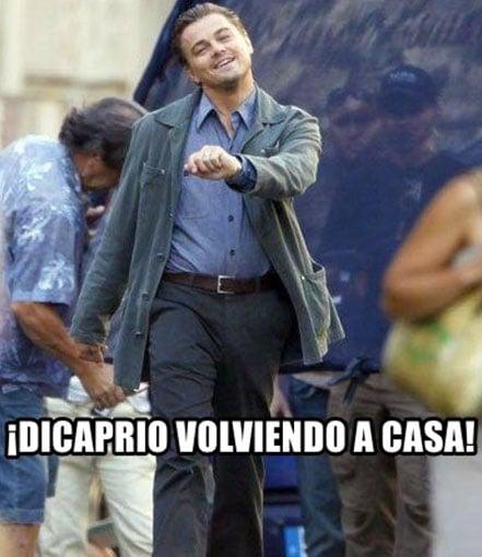 Meme de Leonardo DiCaprio de regreso a su casa después de los Oscars 2016