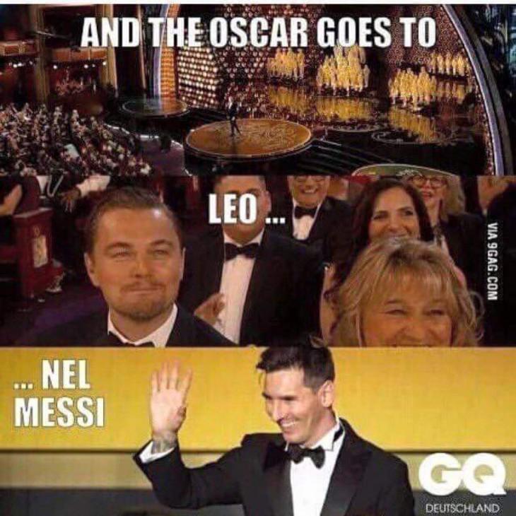 meme de la entrega del oscar a Leonardo DiCaprio
