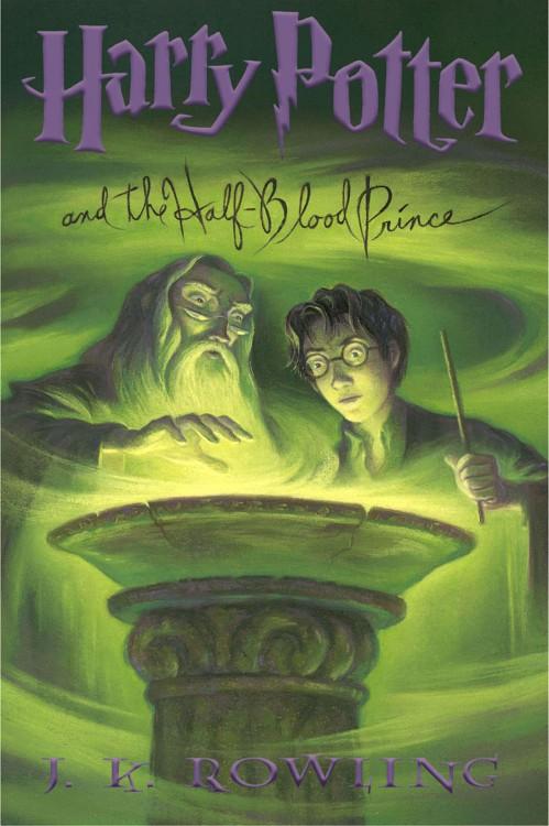 Portada del libro de Harry Potter y el príncipe Mestizo