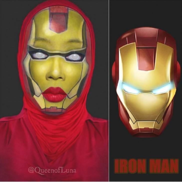 Maquillista de Malasia se transformó en Iron Man