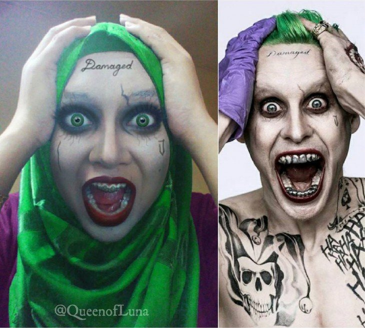 Maquillista de Malasia transformada en el Joker