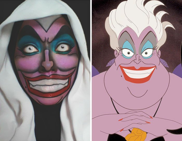 Maquillista se transforma en Ursula