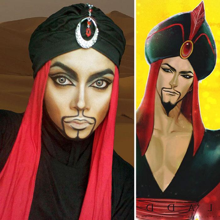 Saraswati una artista de maquillaje que se transformó en el villano Jafar