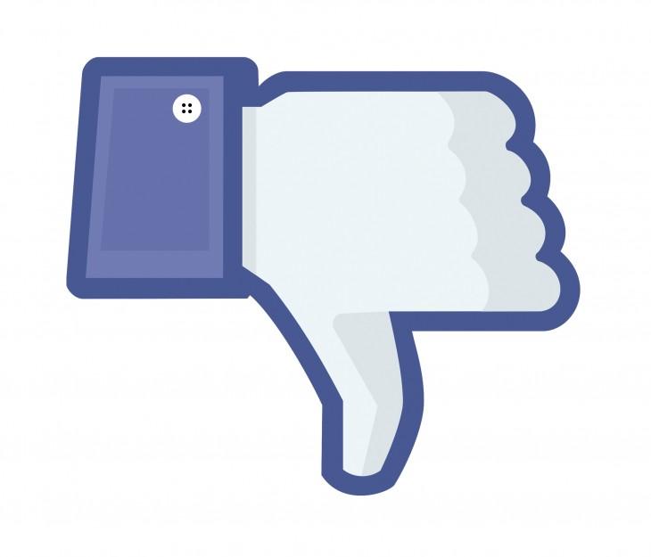 botón 'no me gusta' para Facebook