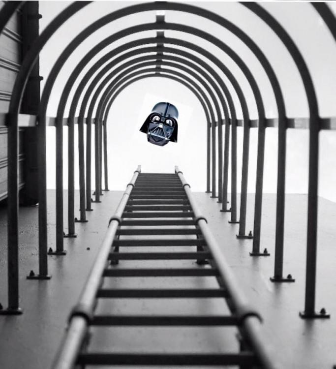 photoshop de la fotografía ganadora con la cara de Darth Vader