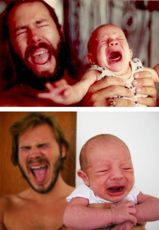 padres con sus respectivos hijos