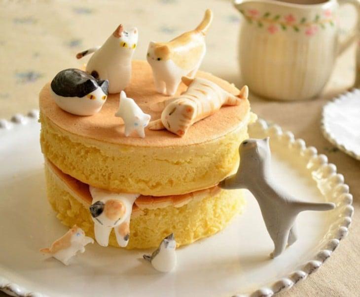 hotcakes con gatos
