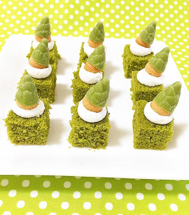 pasteles verdes
