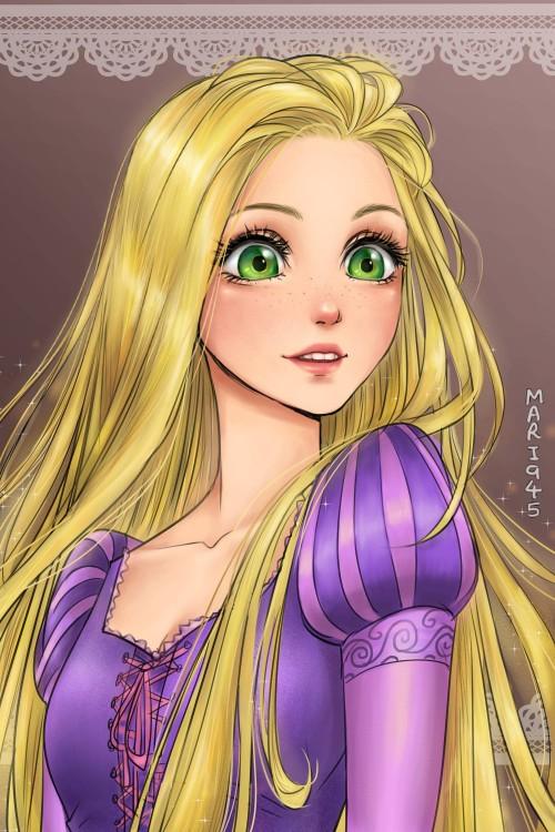 Rapunzel versión anime