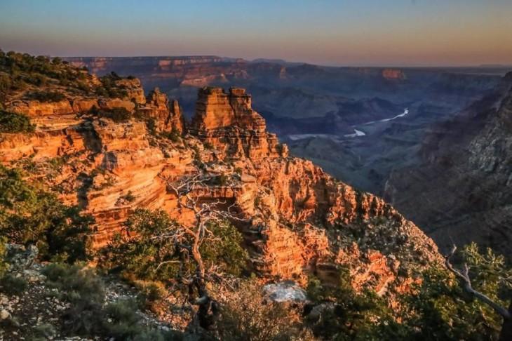 fotografía del gran cañón