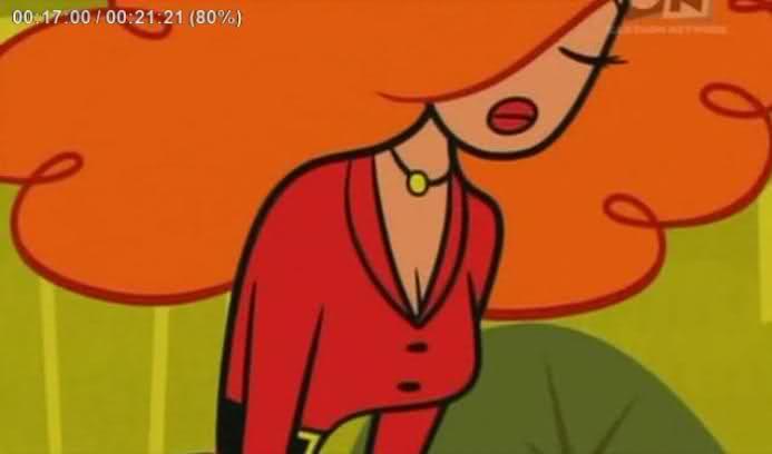 rostro de la señorita bello personaje de la caricatura las chicas superpoderosas