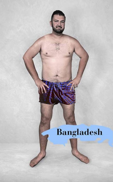 photoshop del cuerpo masculino perfecto según Bangladesh