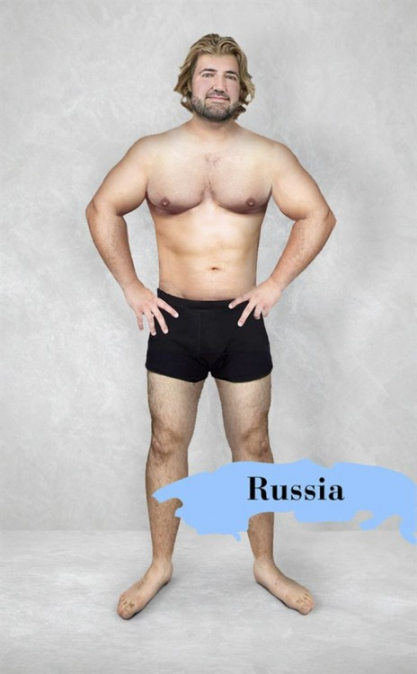 Prototipo del cuerpo masculino perfecto en Rusia