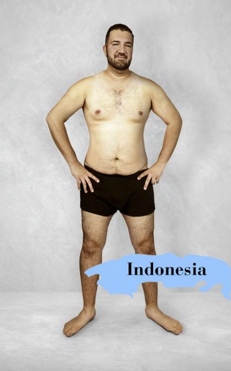 Cuerpo masculino perfecto en Indonesia