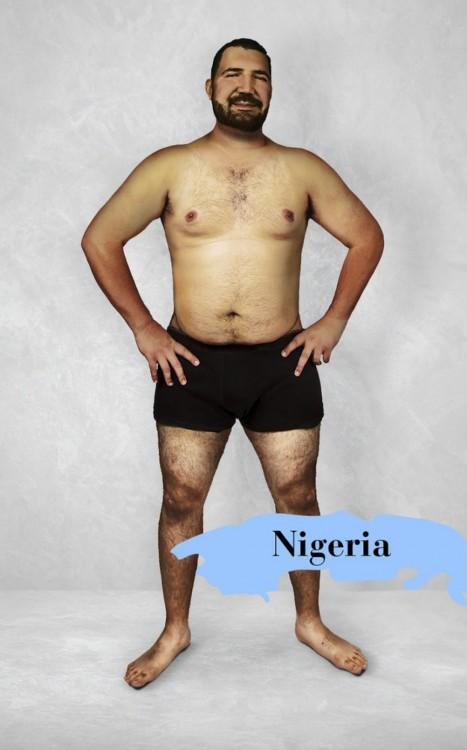 Photoshop que muestra el cuerpo masculino perfecto en Nigeria