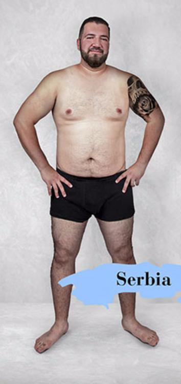 Cuerpo masculino estándar en Serbia