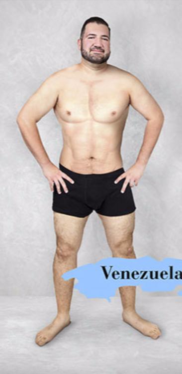 Imagen que muestra el cuerpo masculino estándar en Venezuela