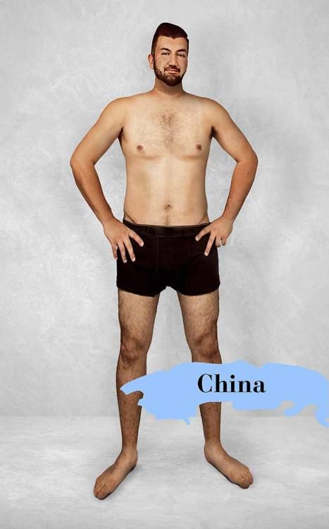 estereotipo del cuerpo masculino perfecto en China