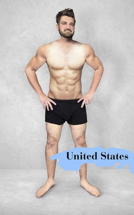 Photoshop del cuerpo masculino estándar en Estados Unidos