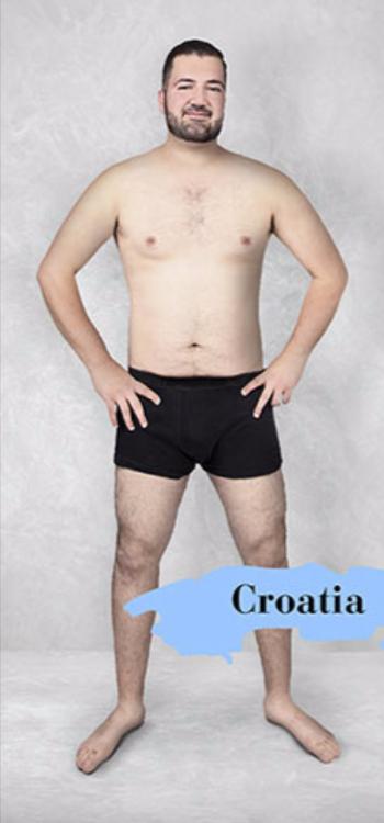 Cuerpo masculino estándar en Croacia