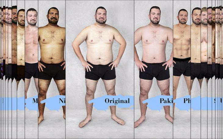 Catalogo del cuerpo perfecto masculino según los estándares de belleza en cada país