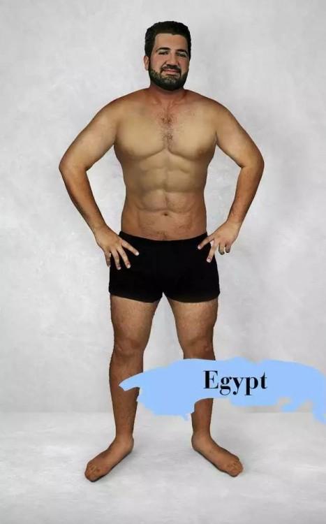 photoshop del cuerpo masculino perfecto en Egipto