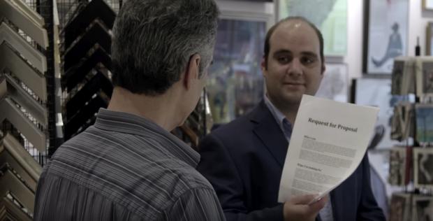 captura de pantalla del video ¿Qué pasa si le pides a alguien que trabaje gratis?