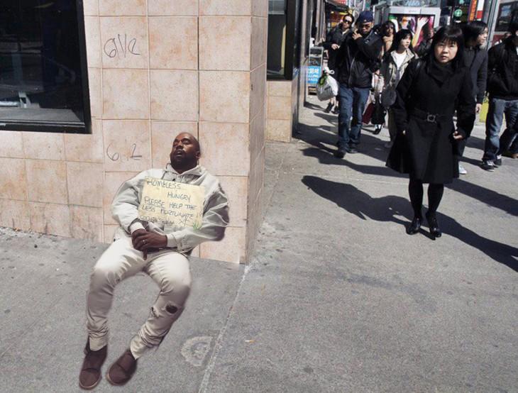 kanye homeless meme