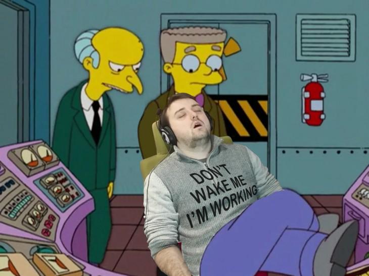 Se quedó dormido y lo trolean como los Simpson