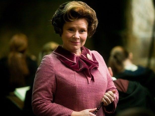 Dolores Umbridge personaje de la famosa saga Harry Potter