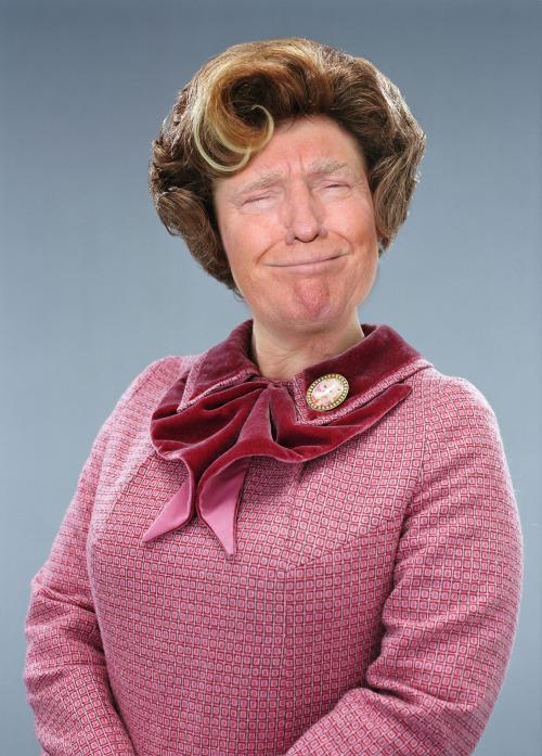 Usuario de Imgur combino las caras de Donal Trump y Dolores Umbridge