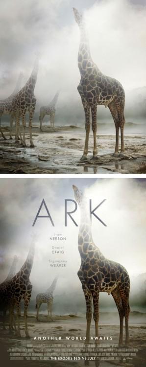 """poster falso de una película titulada """"Ark"""""""