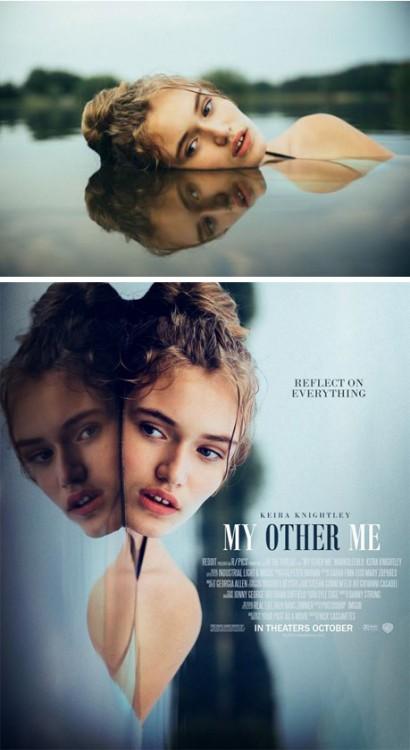 """imagen convertida en el poster de una película titulada """"mi otro yo"""""""
