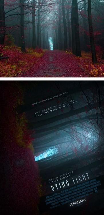 """Fotografía de un paisaje convertido en un poster de película falso titulada """"Dying Light """""""