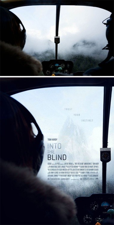"Poster falso de una película titulada ""Into The Blind"""
