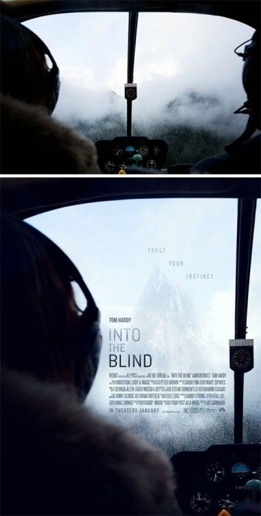 """Poster falso de una película titulada """"Into The Blind"""""""