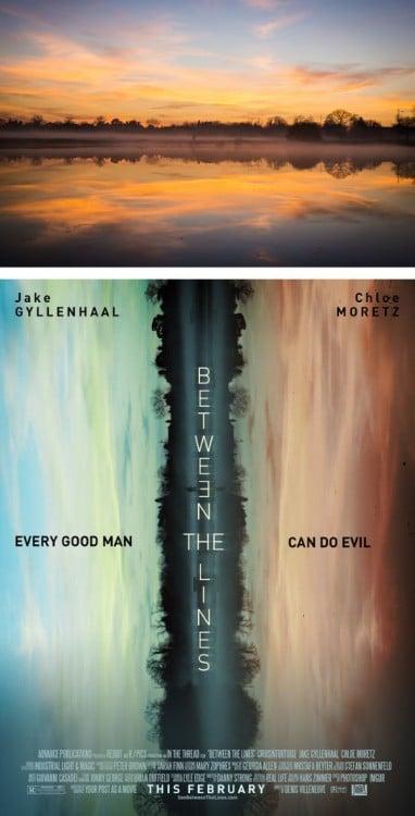 """Poster falso de una película titulada """"Between The Lines"""""""
