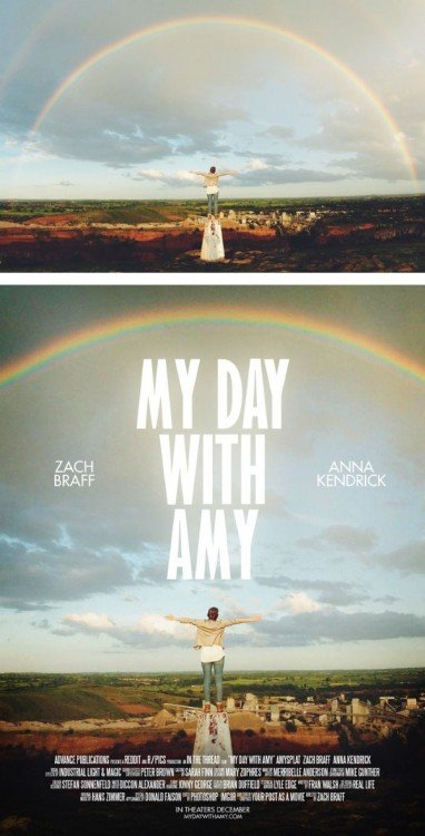 "poster falso de una película titulada ""My Day With Amy"""