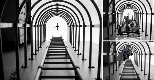 Coger un avión en el aire, a cargo de Chay Yu Wei