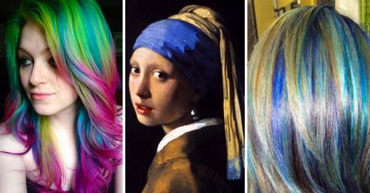 Úrsula Goff se inspira en pinturas clásicas para teñir el cabello con colores