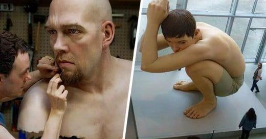 Ron Mueck escultor de gigantes figuras hiperrealistas humanas