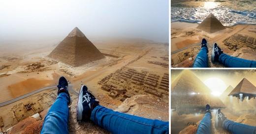Andrej Ciesielski, el joven alemán que burlo la seguridad de las pirámides de Egipto y una gran batalla con photoshop