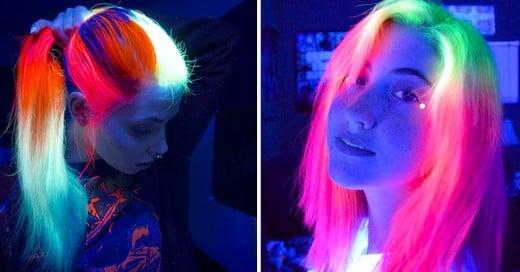 cabello fluorescente
