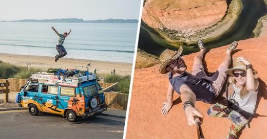 pareja viaja en furgoneta por 50 paises y gastan menos de 8 dolares al dia