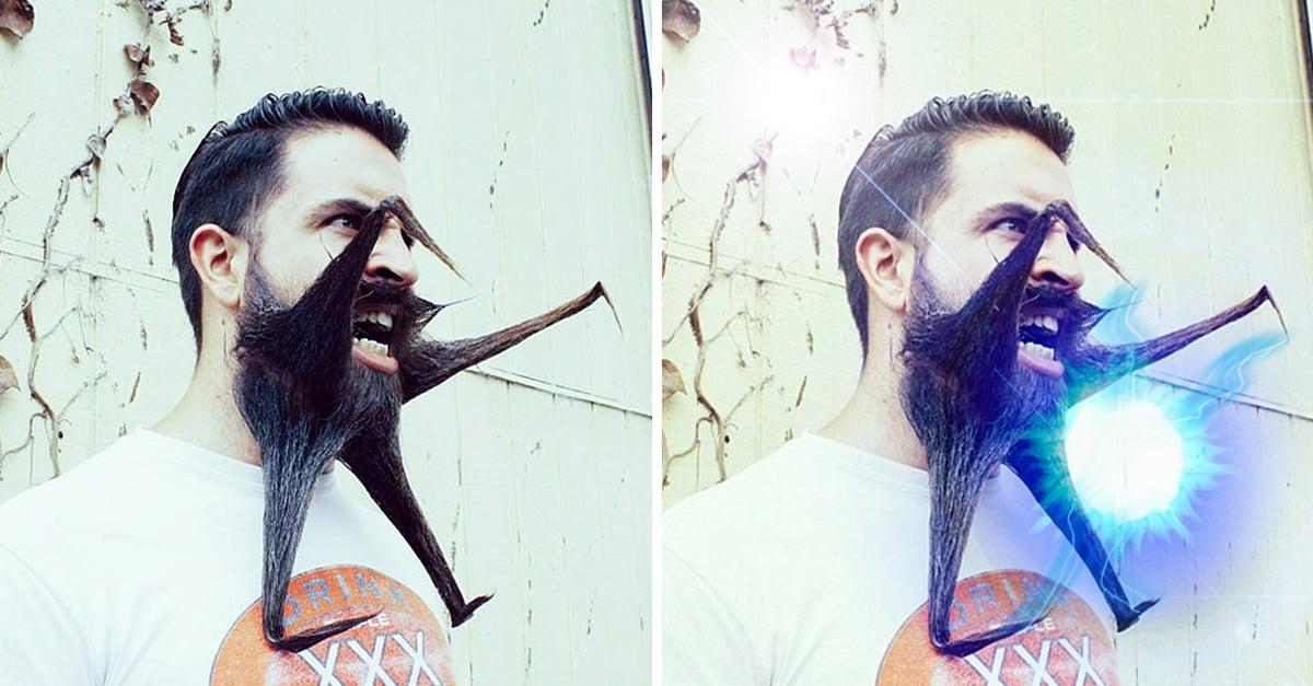 Este hombre se hace barba exótica e Internet lo trollea
