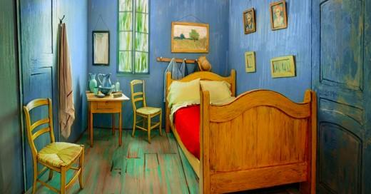 """recrean """"El dormitorio"""", del famoso pintor Vicent Van Gogh."""